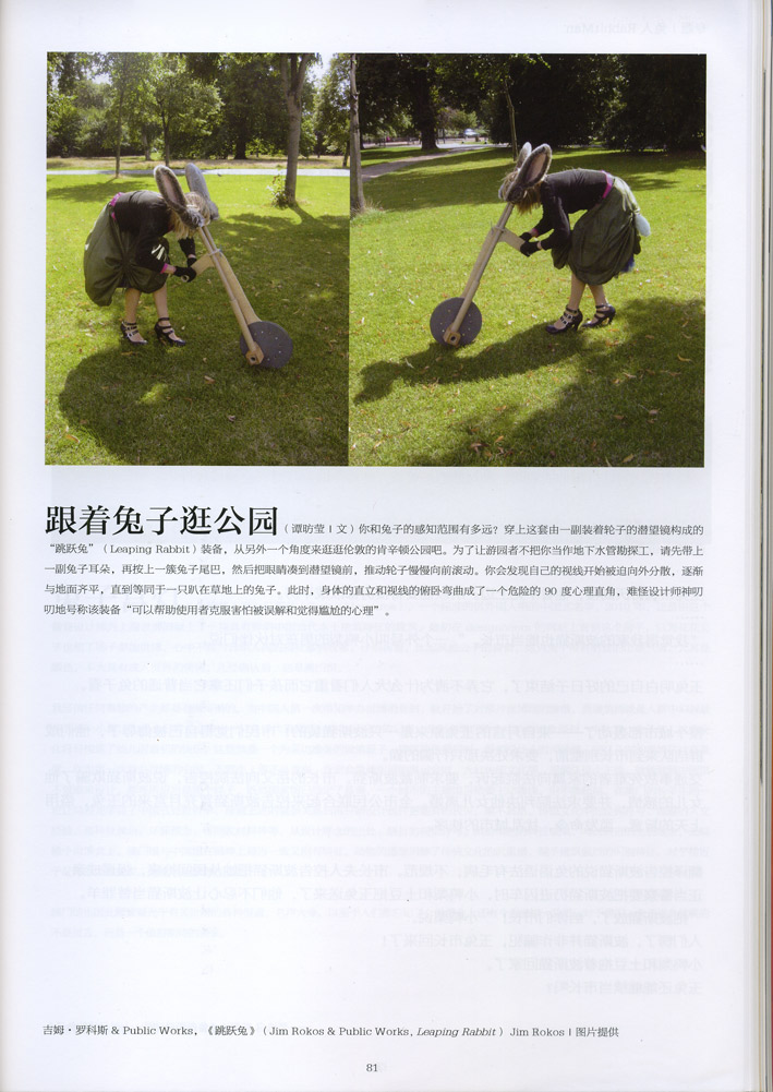 Art World Leaping Rabbit Article